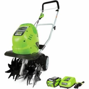 The Best Extension Cord Option: Greenworks 40V 10 inch Cordless Cultivator