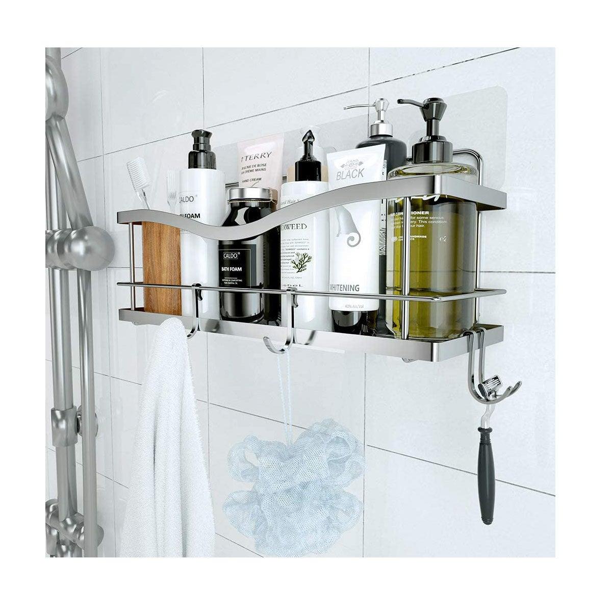 3 Tier Corner Shower Caddy Stainless Steel Shower Corner Bathroom Rack Basket