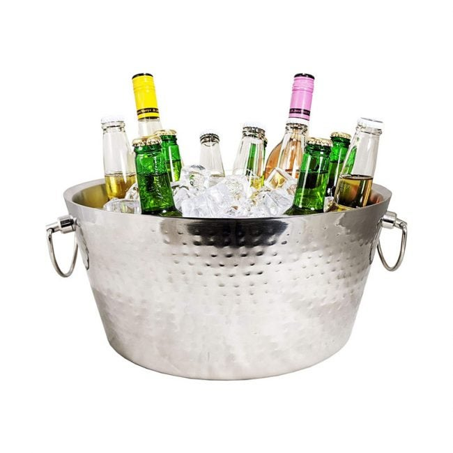 The Best Beverage Tub Option: BREKX Stainless-Steel Metal Bucket