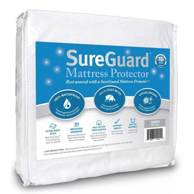 Best Mattress Protectors Options: SureGuard Queen Size Mattress Protector