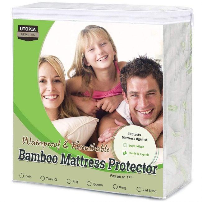 Best Mattress Protectors Options: Utopia Bedding Bamboo Mattress Protector