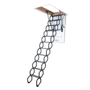 Best Attic Ladder Options: FAKRO LST 66823 Insulated Steel Scissor Attic Ladder