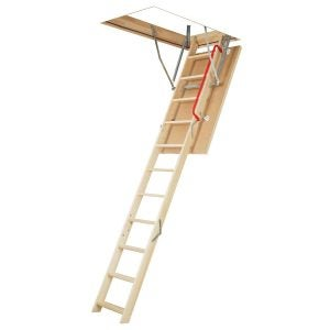 Best Attic Ladder Options: FAKRO LWP 66802 Insulated Attic Ladder for 25 x 47-Inch Rough Openings