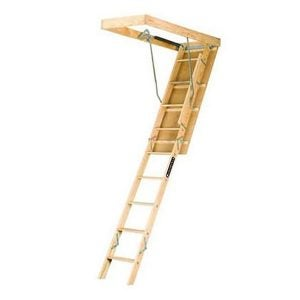 Best Attic Ladder Options: Louisville Ladder 22.5-by-54-Inch Wooden Attic Ladder