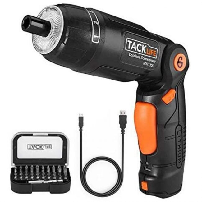 The Best Electric Screwdriver Option: TACKLIFE Cordless Electric Screwdriver