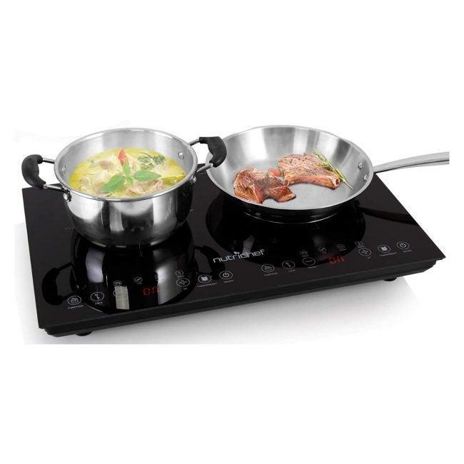 The Best Portable Induction Cooktop Option: Rosewill Induction Cooktop with Stainless Steel Pot