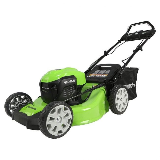 "The Best Self Propelled Lawn Mowers Option: Greenworks 40V 21"" Brushless Self-Propelled Lawn Mower"
