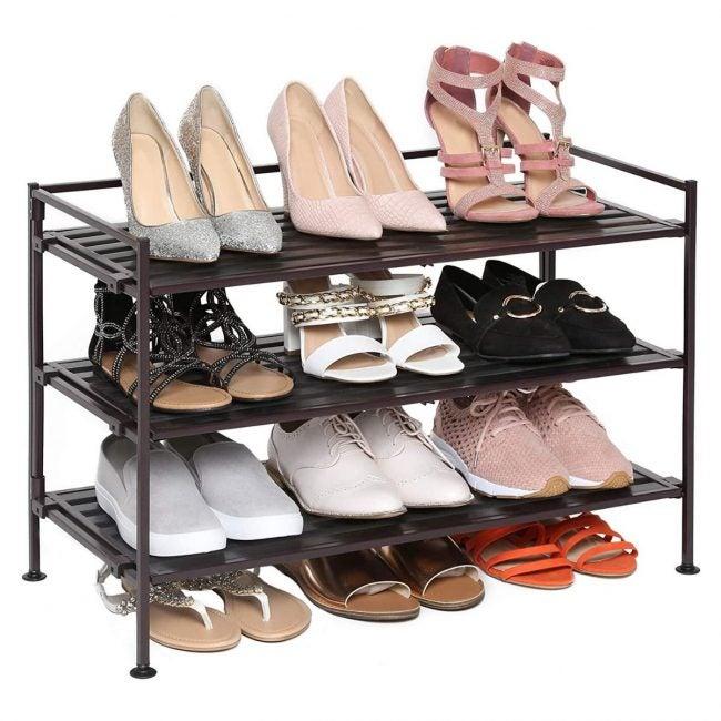 The Best Shoe Rack Option: Seville Classics 3-Tier Stackable Shoe Rack