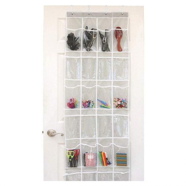 The Best Shoe Rack Option: Simple Houseware 24 Pocket Clear Over Door Organizer
