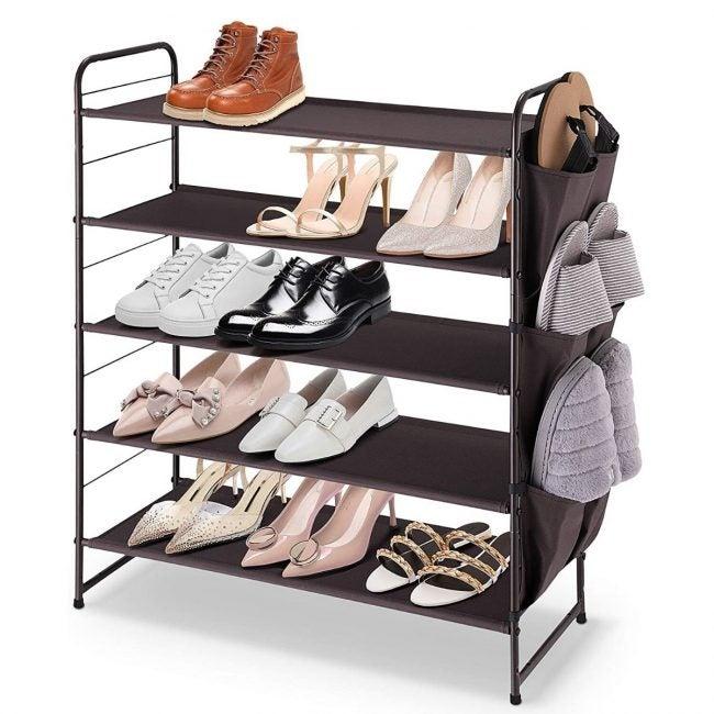 The Best Shoe Rack Option: Simple Trending 5-Tier Stackable Shoe Rack