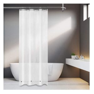 Best Shower Curtain Liners Options: Mrs Awesome Narrow 8G Frost PEVA Shower Curtain Liner