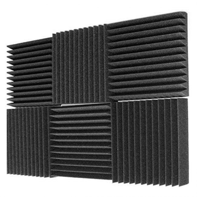 最佳隔音材料选项:Mybecca 6 Pack声学泡沫楔形