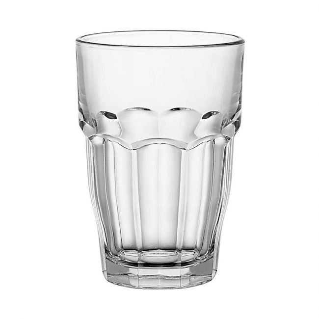 The Best Drinking Glass Option: Bormioli Rocco Rock Bar Stackable Beverage Glasses