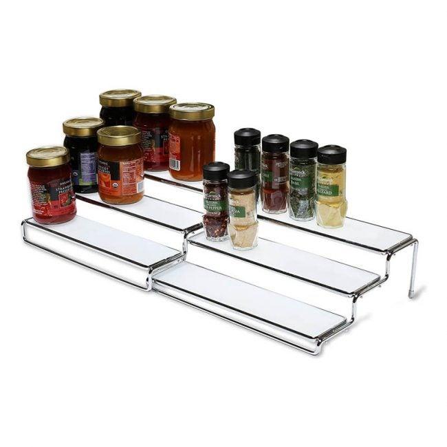 最佳香料架选择:DecoBros 3层可扩展橱柜香料架