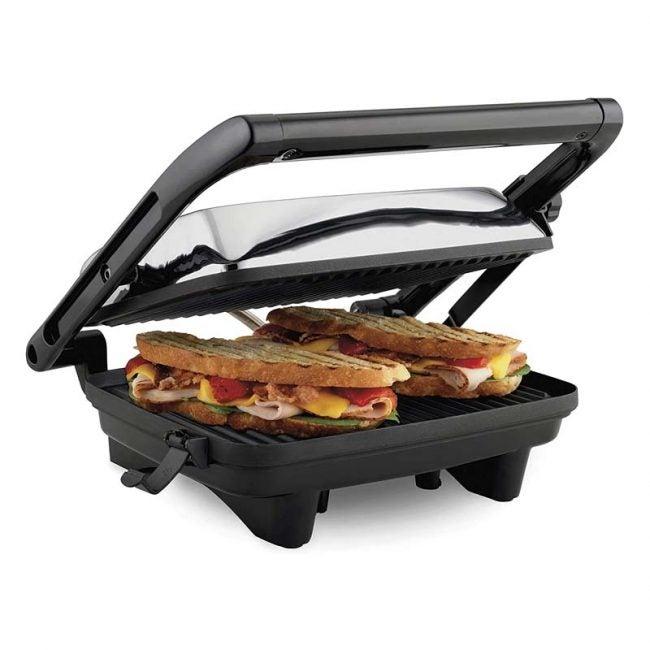 最好的三明治制造商选项:汉密尔顿海滩电动盖烤架