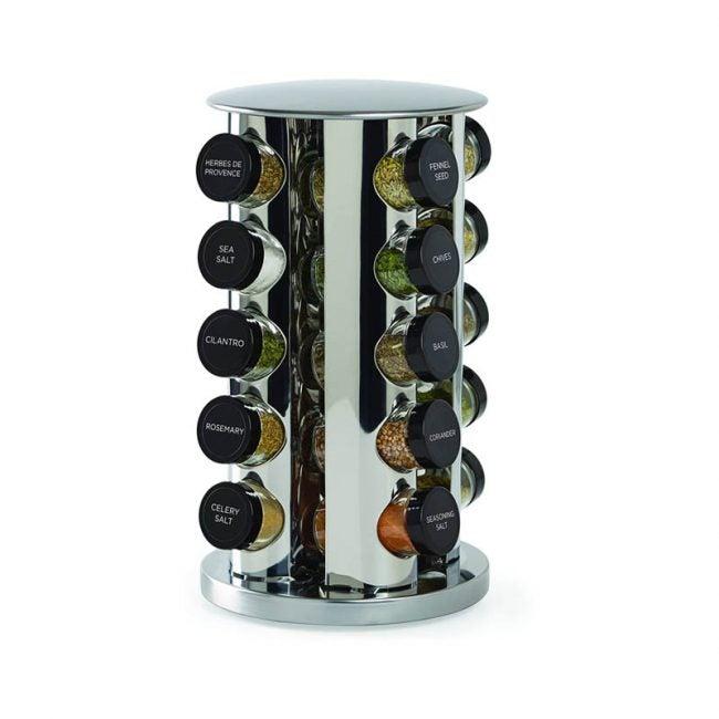 最佳香料架选择:Kamenstein旋转20罐台面香料架