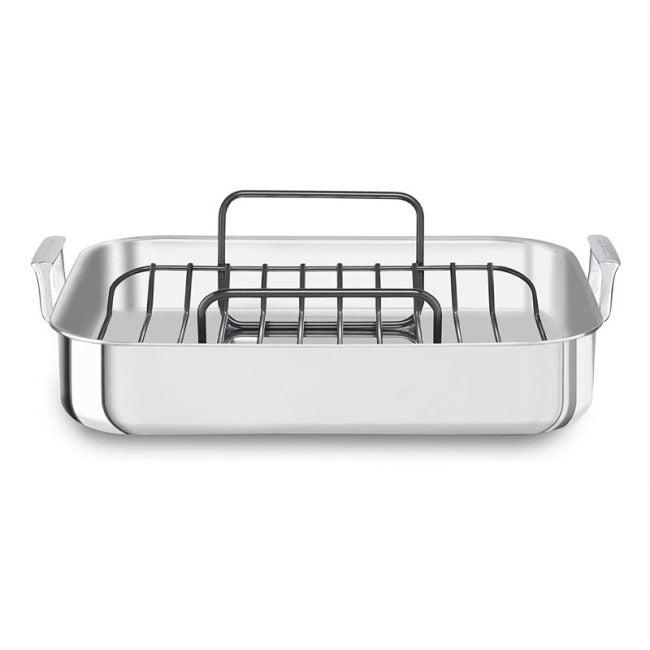 The Best Roasting Pan Otpion: KitchenAid Tri-Ply Stainless Steel Roaster