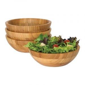 The Best Wooden Salad Bowl Option: Lipper International Bamboo Wood Salad Bowls