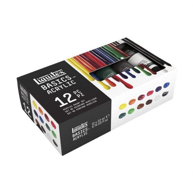 The Best Acrylic Paint Option: Liquitex BASICS 12 Tube Acrylic Paint Set