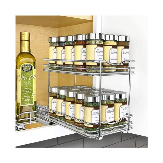 The Best Spice Rack Option: Lynk Professional Slide Out Double Spice Rack