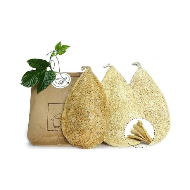 The Best Dish Scrubber Option: Miw Piw Natural Dish Sponge Pack of 3