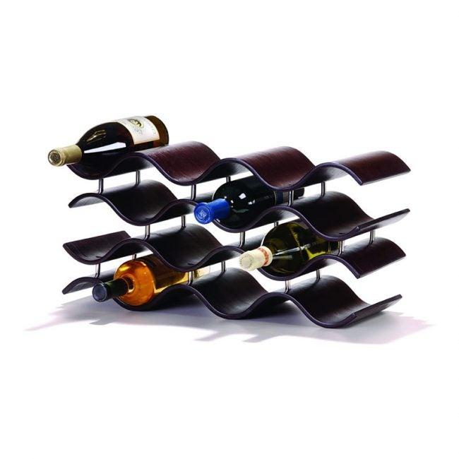 最好的葡萄酒架选项:欧松粒素巴厘岛酒架,乌木 -  12瓶