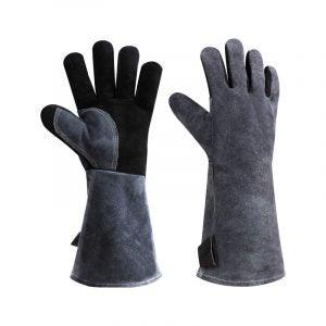 最佳烧烤手套选择:Ozero皮革耐热烧烤手套