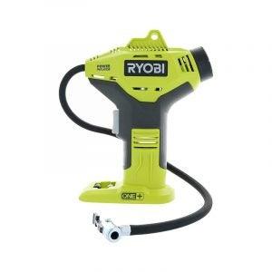 最佳轮胎充气器选择:Ryobi P737 18伏ONE+便携式无绳充气器