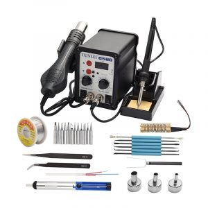 The Best Soldering Station Option: TXINLEI 8586 110V Hot Air Rework Station
