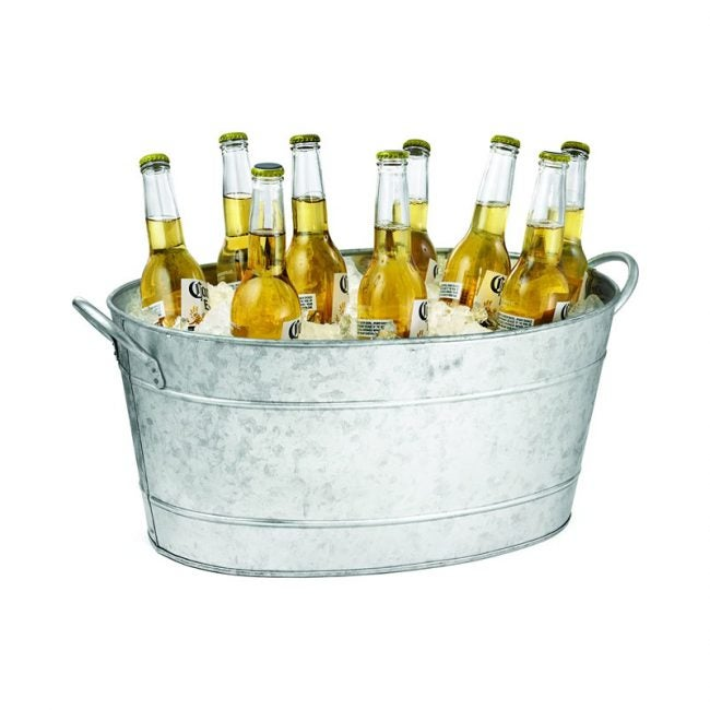 The Best Beverage Tub Option: Tablecraft Galvanized Oval Beverage Tub