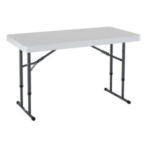 The Best Folding Table Option: Lifetime 80160 Height Adjustable Folding Table