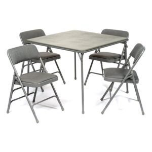 The Best Folding Table Option: XL Series Folding Card Table and Padded Chair Set