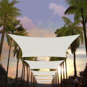The Best Shade Sail Option: Amgo 12' x 16' Rectangle Sun Shade Sail