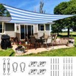 The Best Shade Sail Option: Quictent 185HDPE Stripe Color Rectangle Sun Shade