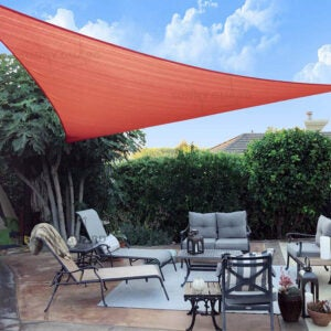 "The Best Shade Sail Option: SUNNY GUARD 16'5"" x 16'5"" x 16'5"" Triangle Shade Sail"