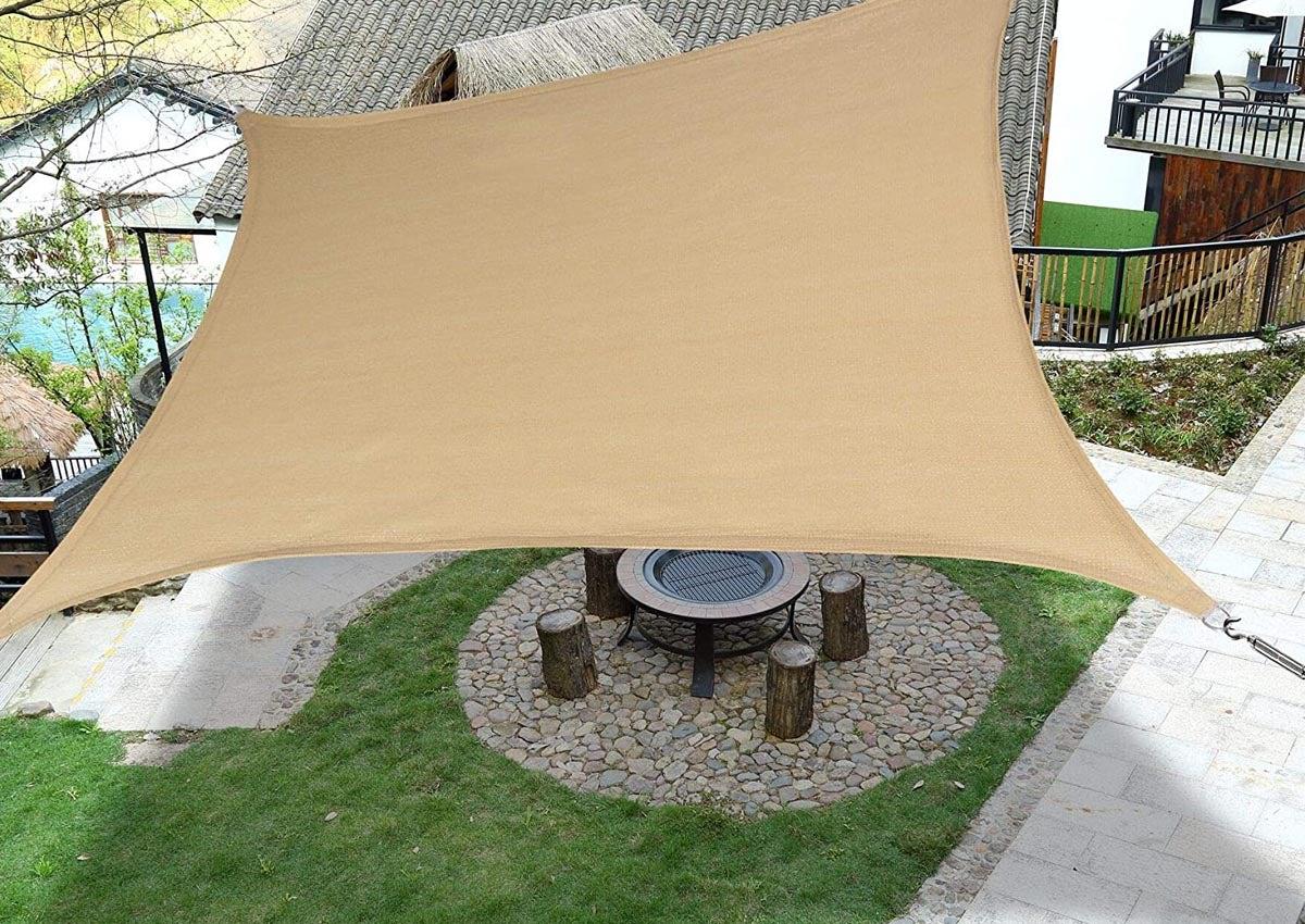 Sun Shade Sail Canopy Garden Patio Awning UV Protection Sunscreen Outdoor Screen