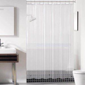 The Best Shower Curtain Liner Option: Downluxe Clear Shower Curtain Liner