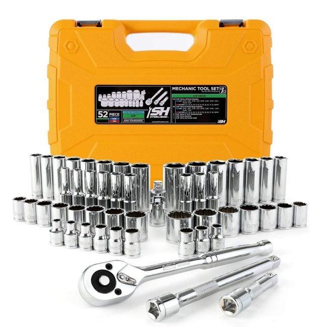 最佳套筒组选项:STEELHEAD 52件机械工具和套筒组