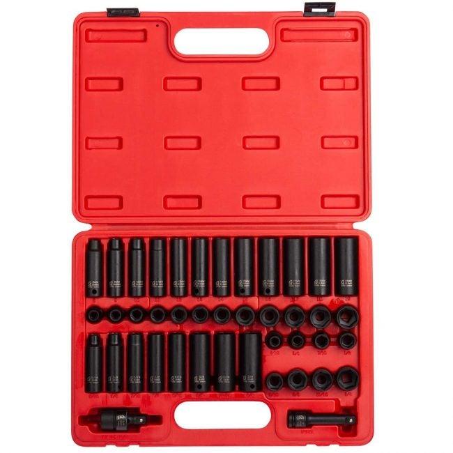 最佳插座设置选项:Sunex 3342,英寸驱动器主冲击插座设置