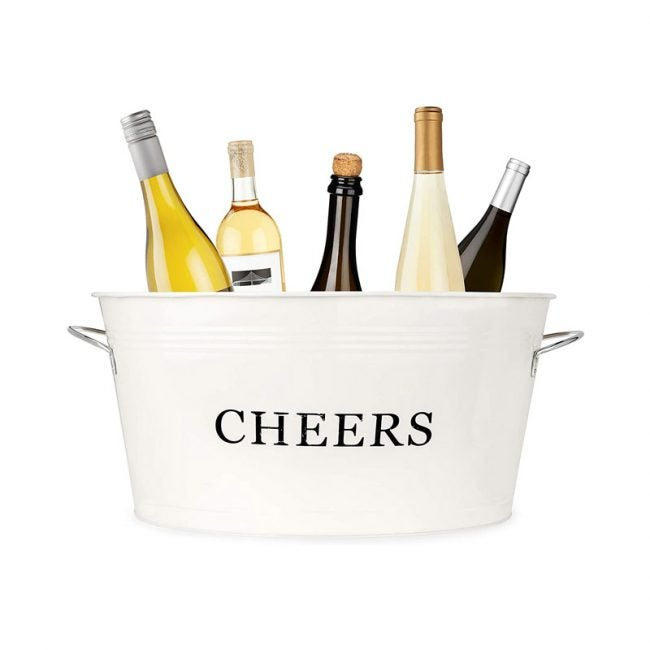 The Best Beverage Tub Option: Twine Rustic Ice Bucket And Galvanized Cheers Tub