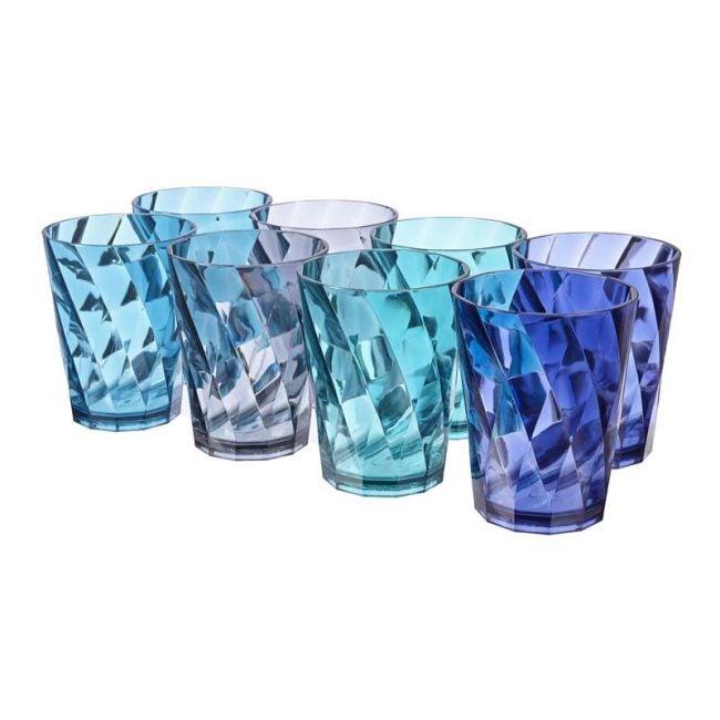 The Best Drinking Glass Option: US Acrylic Optix 14-ounce Plastic Tumblers set of 8