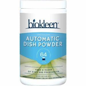 The Best Dishwasher Detergent Option: Biokleen Free & Clear Dishwashing Detergent