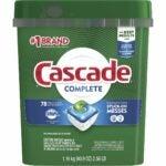 The Best Dishwasher Detergent Option: Cascade Complete Dishwasher Pods