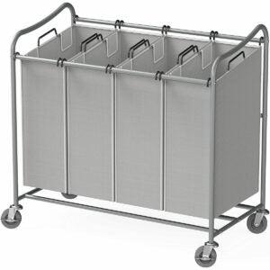 最佳洗衣篮选择:简单的家庭用品4袋重型洗衣分拣机