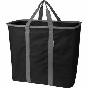 最佳洗衣篮选择:CleverMade可折叠洗衣袋,大型可折叠洗衣袋