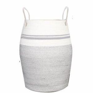 最佳洗衣篮选择:OIAHOMY洗衣篮编织棉绳大洗衣篮