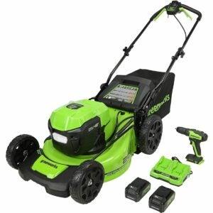 The Best Self Propelled Lawn Mowers Option: Greenworks 2 x 24V (48V) 20-Inch Brushless Mower