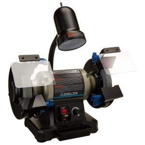 最佳台式磨床选择:台达电动工具23-196 6英寸变速台式磨床