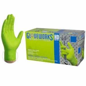 The Best Disposable Gloves Option: AMMEX Gloveworks HD Industrial Green Nitrile Gloves