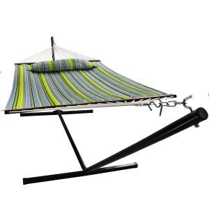 Best Hammock Stand Options: Sorbus Hammock with Stand & Spreader Bars and Detachable Pillow